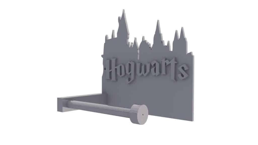 Toilet Paper Holder Idea for Harry Potter fans. A 3D printed Hogwarts toilet paper holder