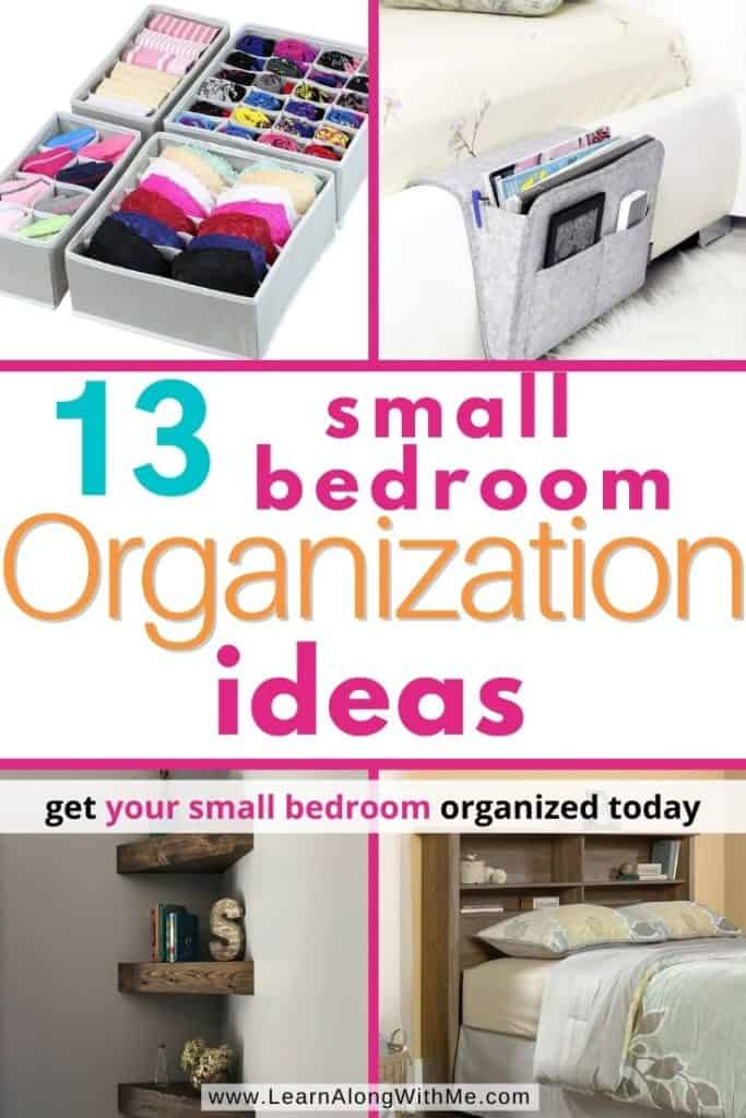 How to Organize a Small Bedroom - 13 space-saving small bedroom organization ideas