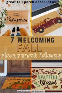 7 fall doormat ideas