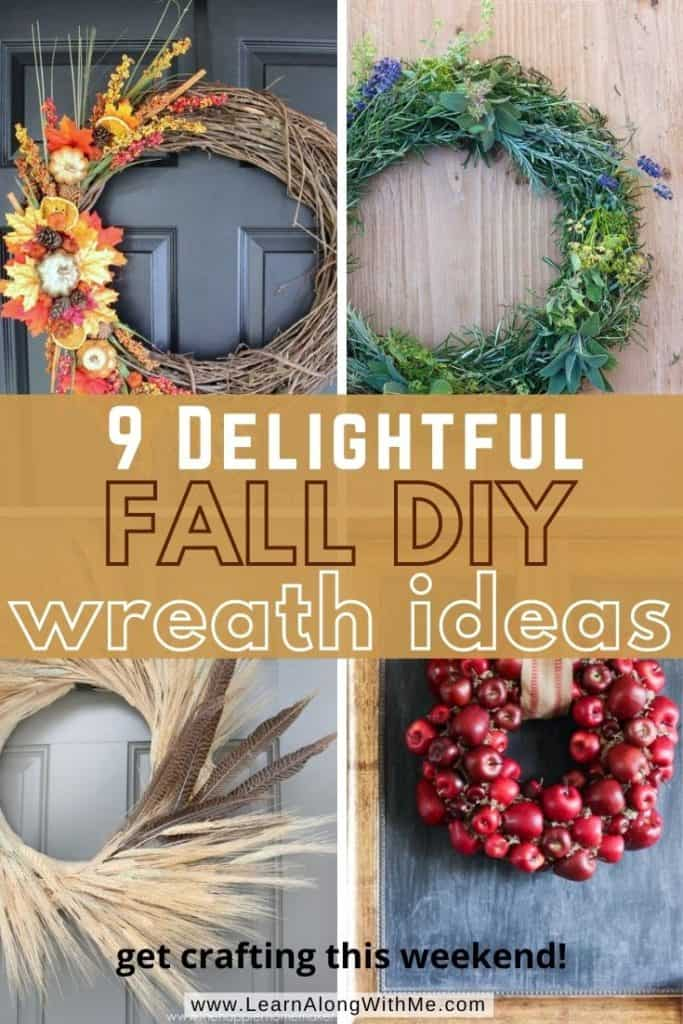 9 Delightful Fall DIY Wreath Ideas [festive fall decor you can make this weekend]