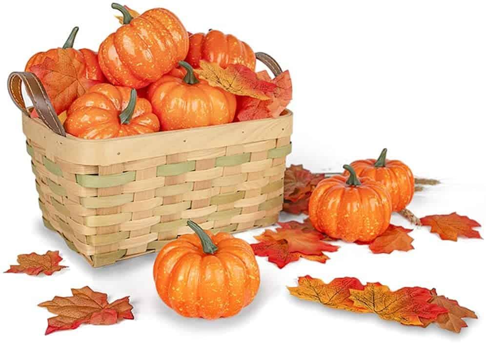 Fall DIY wreath ideas - you could glue craft pumpkins to a wreath frame