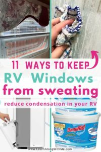 how to stop RV windows from sweating