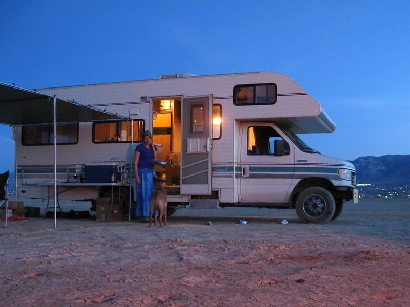 to prevent extra moisture in your RV try to pick dry locations to camp and drier times of year to camp.