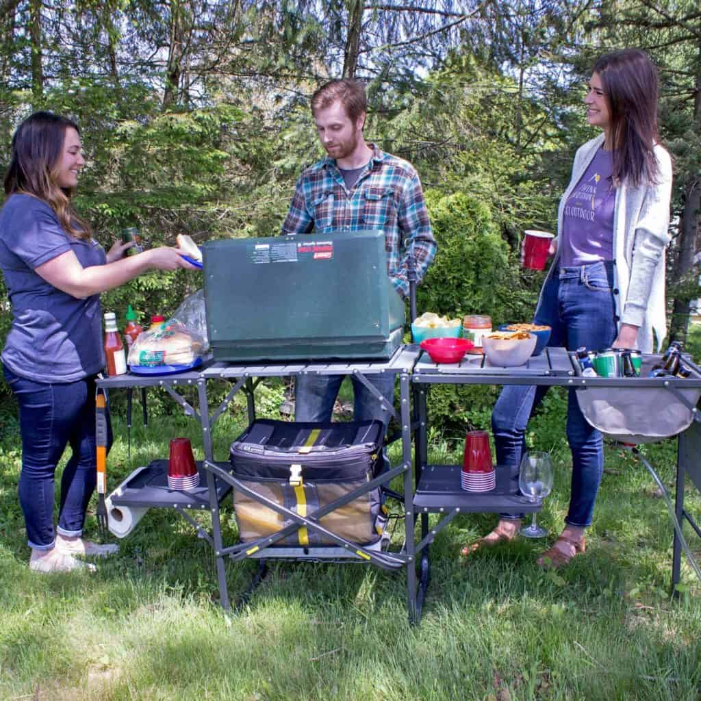 Cooking outdoors while camping is a good way to help reduce moisture inside your RV and to help reduce condensation in your RV