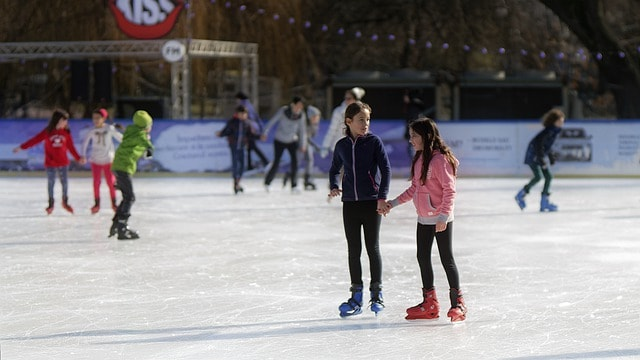 Ice skating is a fun winter birthday party ideas for kids (and grownups)