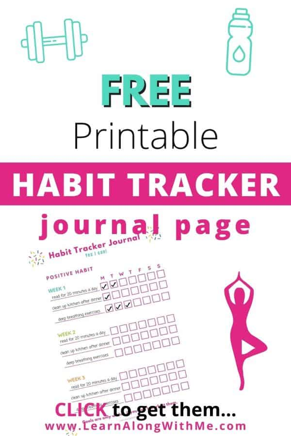 Free printable Habit Tracker Journal Page