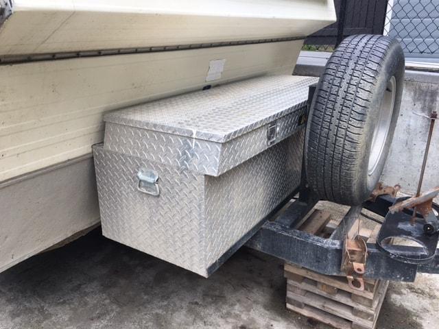 Trailer A-frame cargo box