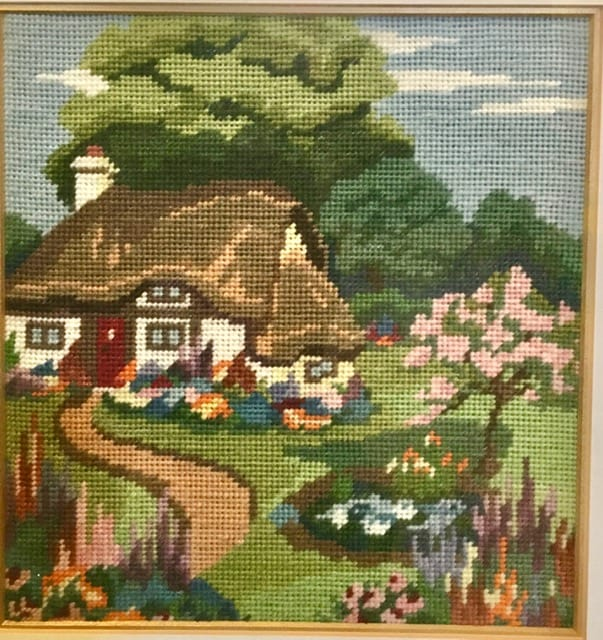 Needlework is a craft you can bring camping