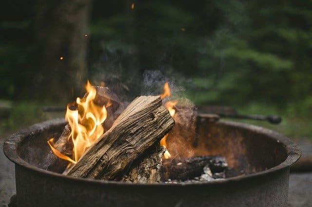 Collecting firewood is a useful camping activity