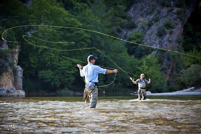 Fishing is a very popular outdoor activity and it is a fun thing to do while camping