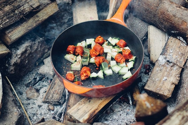 Learn some new camping food. This is a useful thing to do while camping. A good camping activity