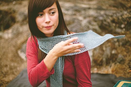 Strathcona scarf - a Jane Richmond pattern. Linen scarf for all seasons