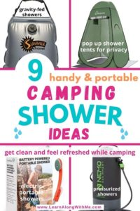 camping shower ideas