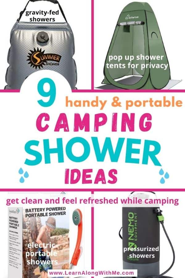 9 portable camping showers and camping shower tent ideas