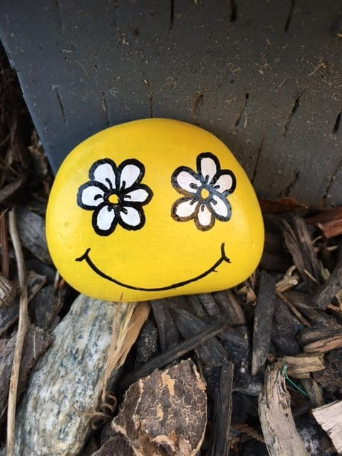 Rock painting is a fun thing to do while camping and doesn't require many supplies.
