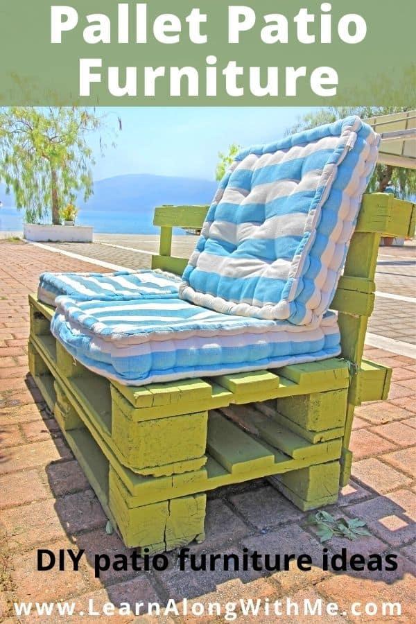 Pallet patio furniture - a DIY patio furniture idea