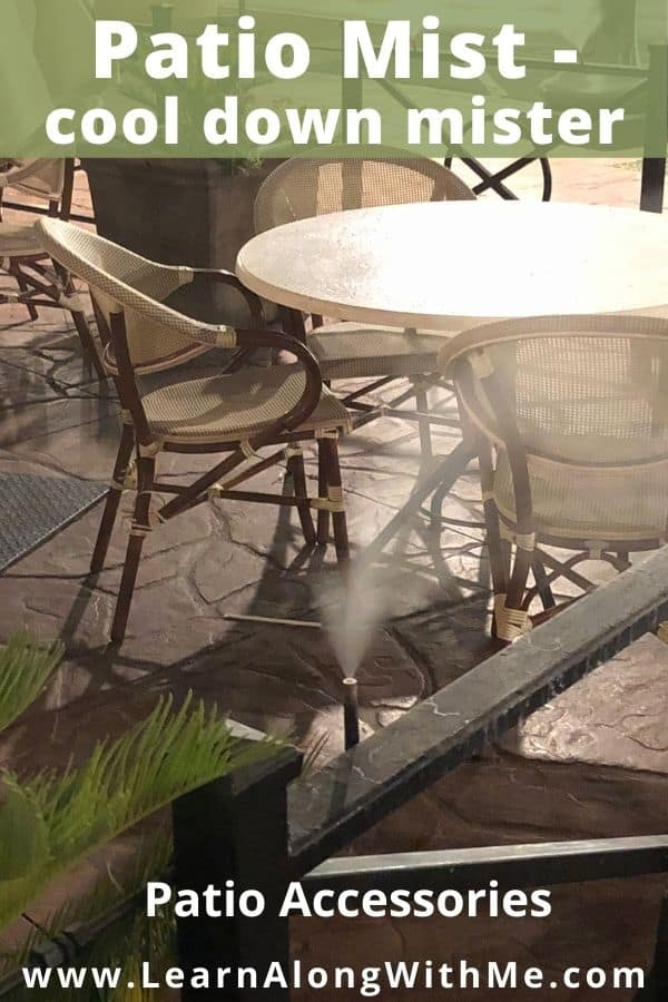 Patio water misters provie a way to cool you down when you're out on your patio