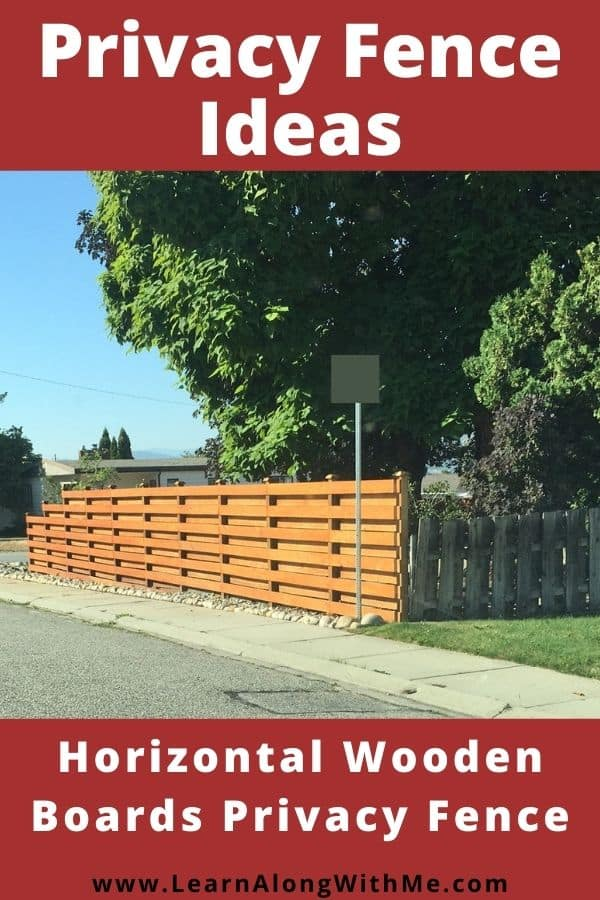 Privacy fence ideas - horizontal wooden fence boards