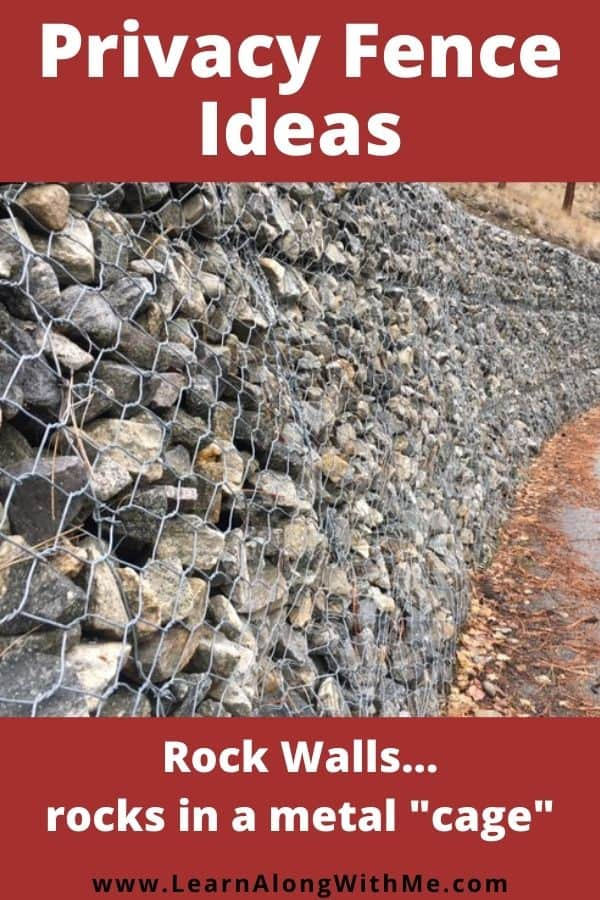 Rock walls as a privacy fence