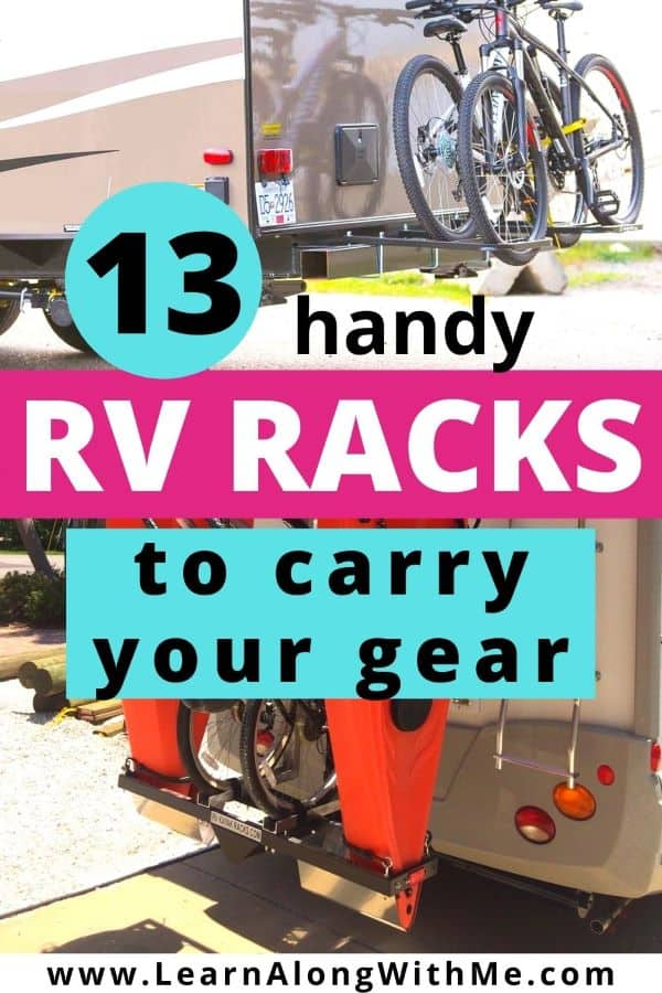 RV Racks to carry your gear including vertical kayak racks for RV and bike racks for RVs