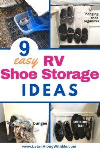 9 easy RV shoe storage ideas