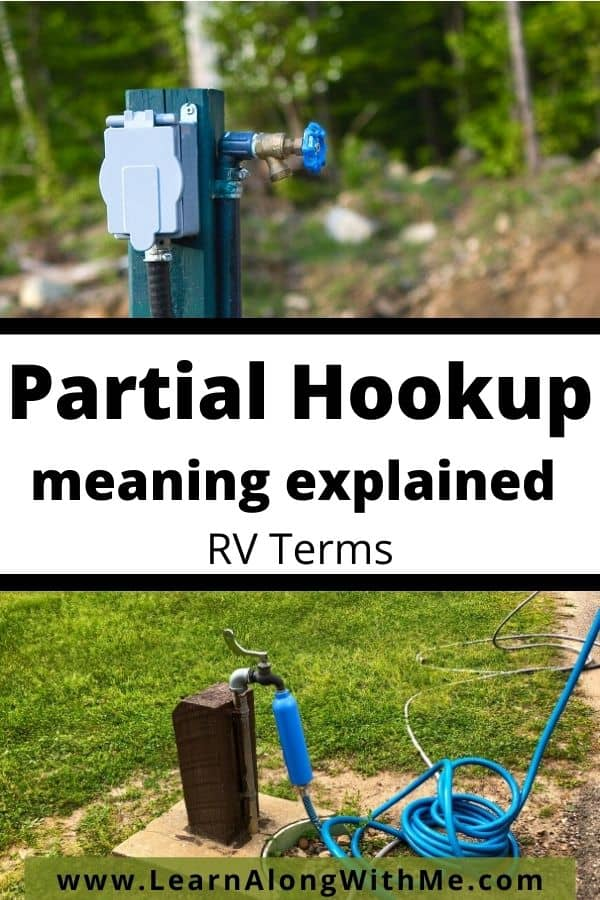 Partial Hookups meaning explained - RV terms