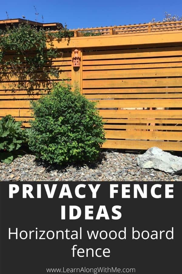 Privacy Fence ideas - horizonal wood board fence