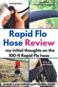 Rapid flo hose