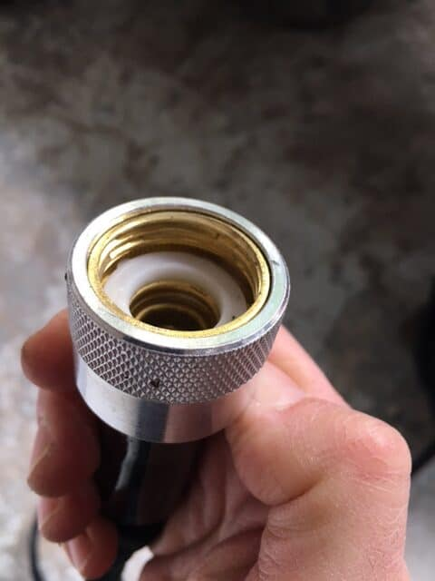 Rapid Flo Hose fitting female connector with the o-ring installed.