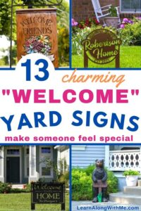 welcome yard signs - 13 charming examples