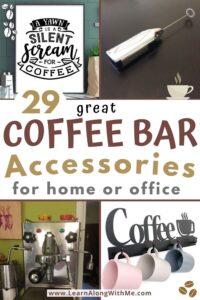 coffee bar accessories
