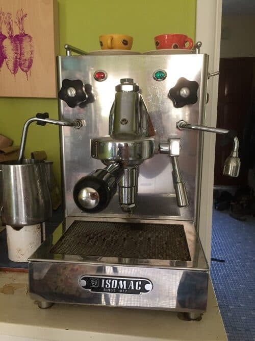 Isomac Espresso machine - old model that is still going strong after about 15 years of making daily coffees