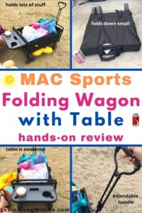 MAC Sports folding wagon with table review