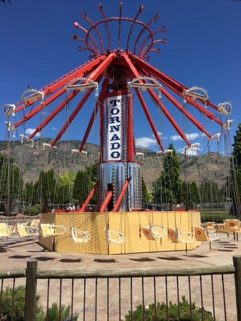 Tornado amusement ride at Rattlesnake canyon osoyoos BC