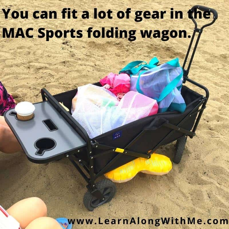 YOu can fit a lot of gear in the MAC Sports folding wagon model WTC.