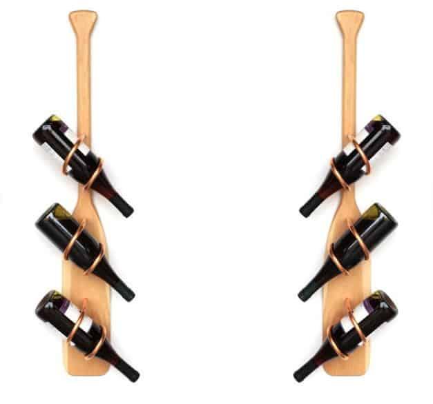 Canoe Paddle Wine Rack - made by CopperHelixDesign on Etsy
