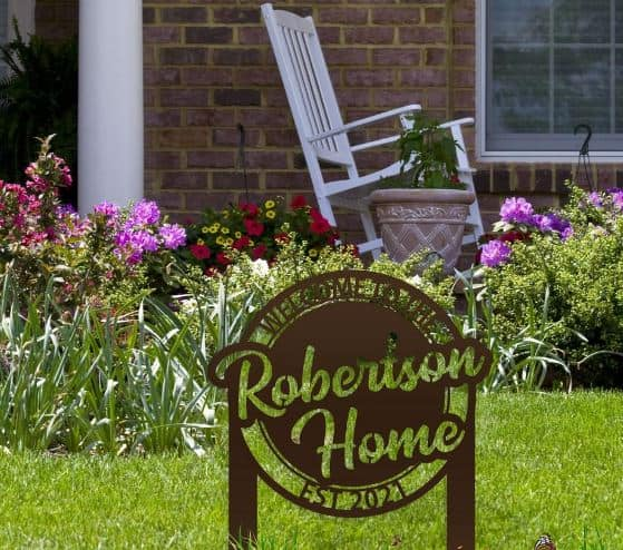 Welcome Yard Signs - customized last name yard signs Etsy