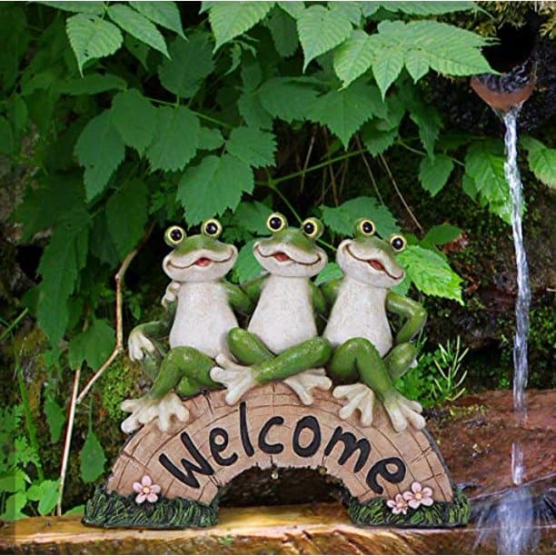 Welcome Yard signs - welcome frog statue from walmart
