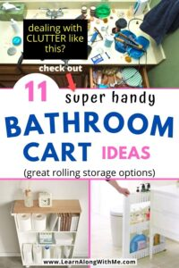 bathroom cart ideas -- 11 bathroom storage carts to help organize your bathroom today