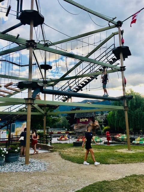 High level ropes course at Locolanding adventure park