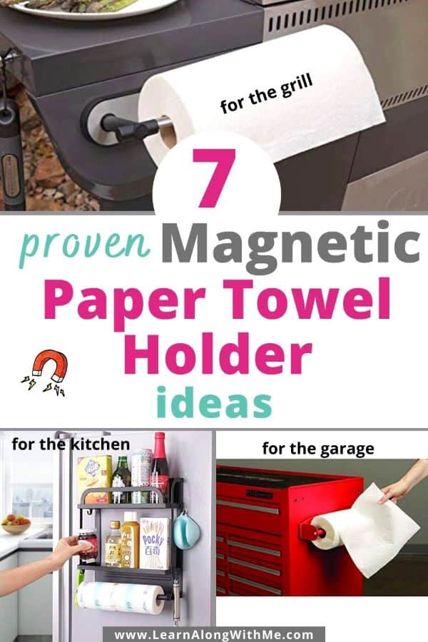 7 proven Magnetic Paper Towel holder ideas for your kitchen, garage, laundry room or grill.