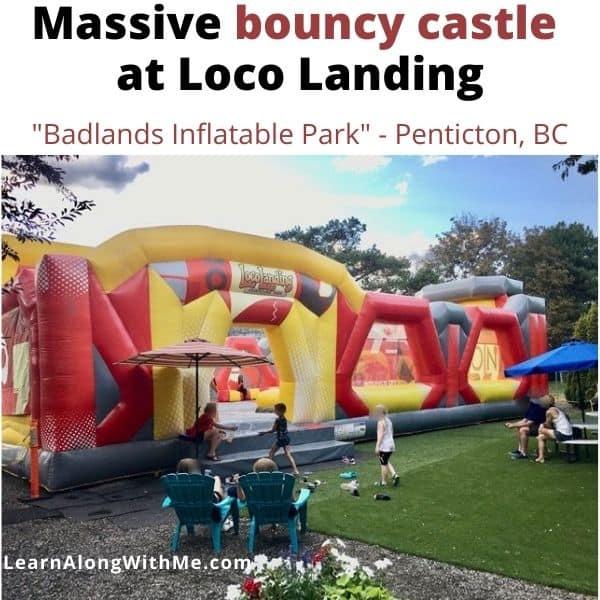Bouncy castle at Loco Landing Penticton