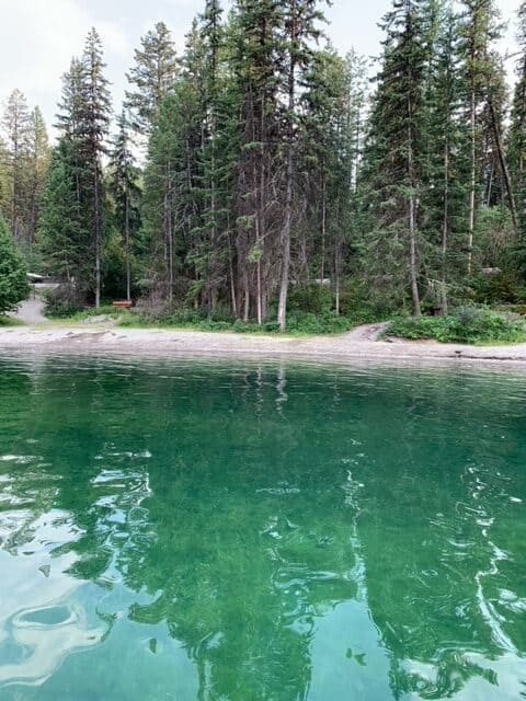Premier Lake BC - day use area at the south end of the lake where people swim