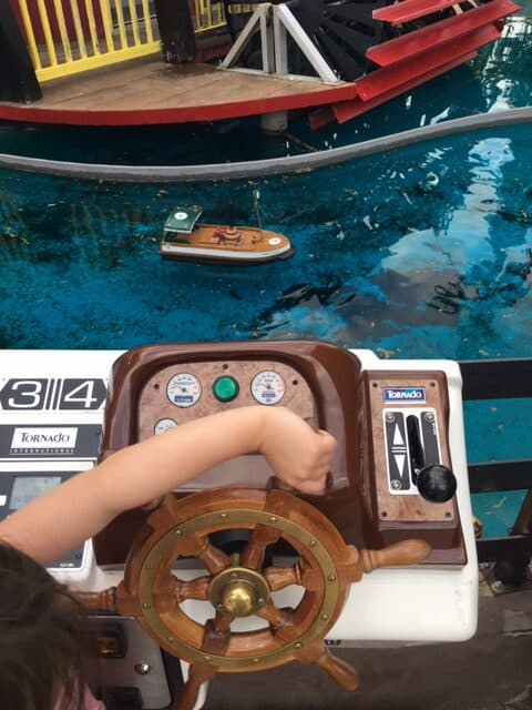 steering little radio controlled boats at loco landing in penticton