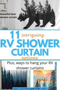 RV shower curtain ideas