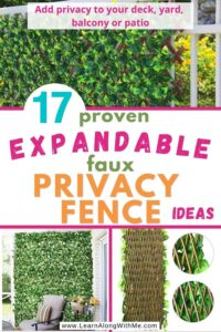 expandable faux privacy fence options