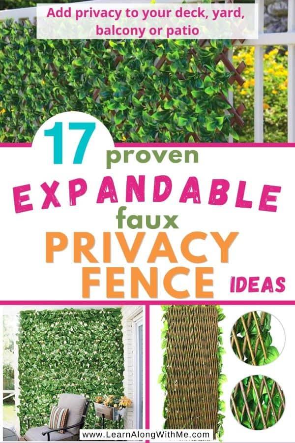 Expandable faux privacy fence ideas (top 17 proven ideas)