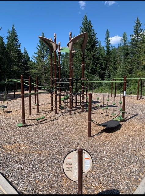Kids playground at Premier Lake Provincial Park