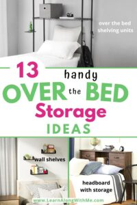 over bed storage ideas