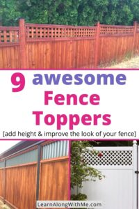 Fence Toppers article featuring 9 great fence topper ideas